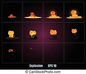 Explosion, cartoon explosion