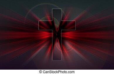 explosion, centre, croix