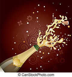 explosion, champagne