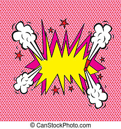 Explosion comic