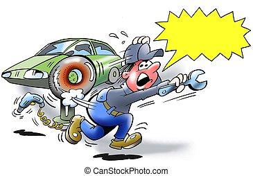 Explosion danger - tire burst