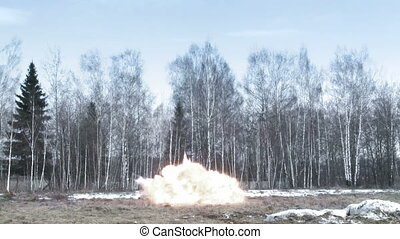 Explosion   - Explosion in a field
