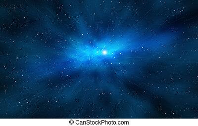 explosion, extérieur, étoile, espace