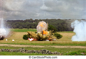Explosion From Cannon Shell - Explosion from a cannon shell...
