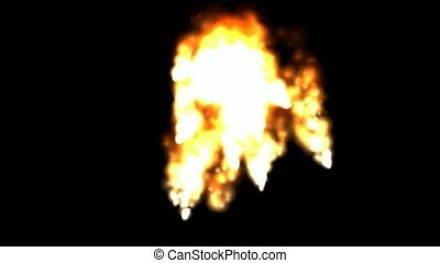 explosion, fumée, brûler, volcanique