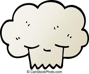 explosion, gradient, illustration, vecteur, dessin animé, nuage