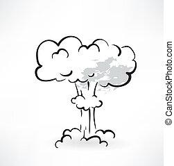 explosion grunge icon