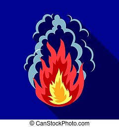 Explosion icon in flat style isolated on white background.