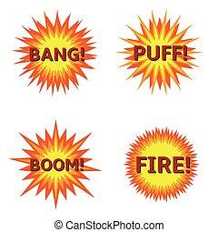 Explosion icon set