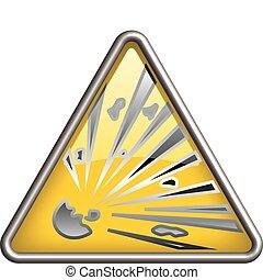 Explosion icon, symbol - Explosion symbol / icon in yellow ...