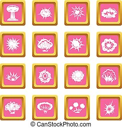 Explosion icons pink