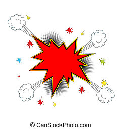 explosion, ikon, komiker, stil