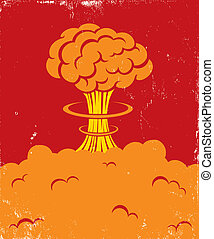 Illustration of a strong blast of brain