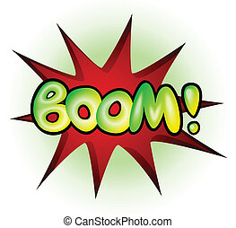 explosion, -, illustration, vecteur, boom, livre comique