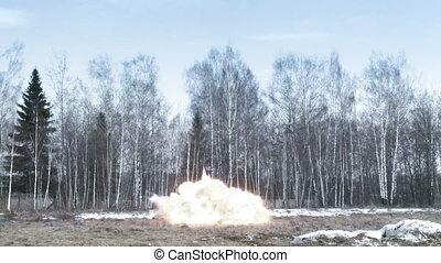 Explosion in a field