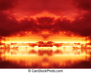 Explosion in the Red Sky