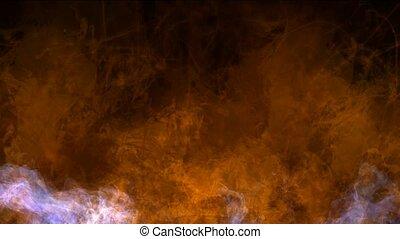 explosion magma energy field,smoke