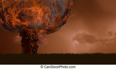 Explosion of a nuclear bomb
