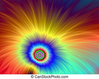 Explosion of Colors - Computer generated fractal image with ...