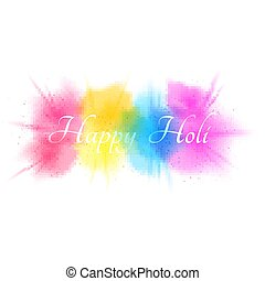 Explosion of colors isolated on white background. Multicolor spray. Background for Happy Holi. Holiday of colors. Colorful fog and dust. Vector illustration