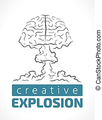 Explosion of creativity - human