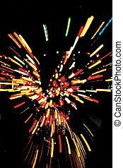 Explosion of light