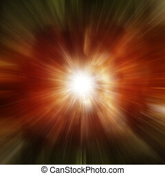 Explosion of red galaxy