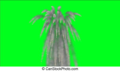 Explosion On Green Screen