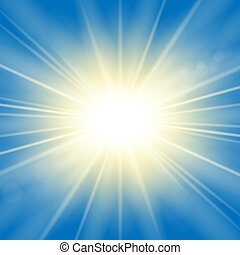 explosion., oro, effect., effetto, luminoso, rays., blu, flash., fondo., scoppio sole, isolato, scintilla, ardendo, astratto, stella, starburst, beams., illustrazione, lente, splendere, magia, vibrante, vettore, luce