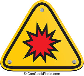 explosion risk - triangle sign - suitable for warning signs