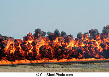 explosion, schwarzer rauch