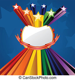 Explosion Stars - Colorful background with stars explosion...