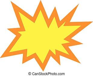 Explosion Vector Icon