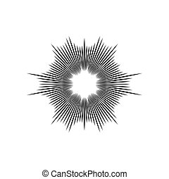 explosion vector illustration abstract background design element