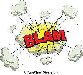 Vector illustration of comic explosion