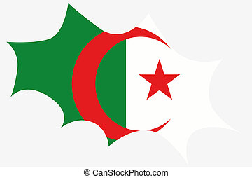 Explosion wit the flag of Algeria