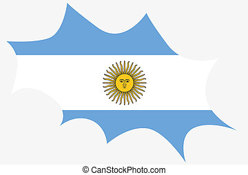 Explosion wit the flag of Argentina