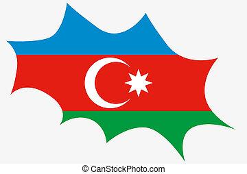Explosion wit the flag of Azerbaijan