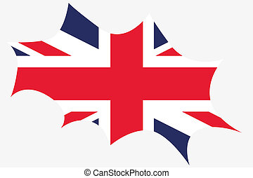 Explosion wit the flag of United Kingdom