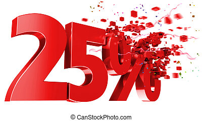 explosive 25 percent off on white background - explosive 25 ...