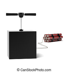 Explosive Dynamite isolated on a white background. 3d render