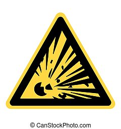 explosive hazard sign - Explosive Hazard Sign. Danger...