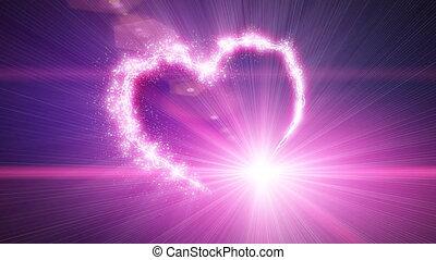 Explosive heart shape with luma matte. Progresive scan