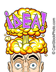 Explosive idea - Conceptual illustration about explosive ...