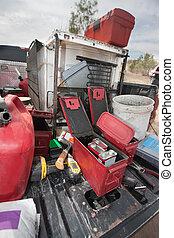 Explosive Powder Containers - Explosive powder in metal...