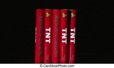 Explosive TNT, flame