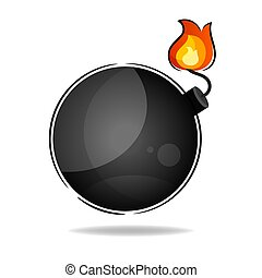 Explosives On A White Background Vector Suitable For Greeting Card, Poster Or T-shirt Printing.
