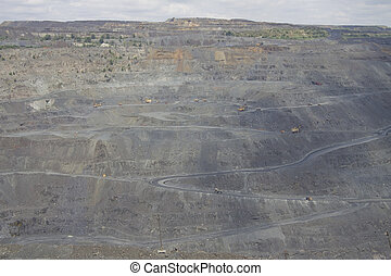explotación minera a cielo abierto