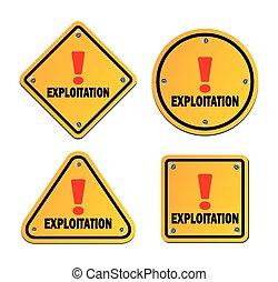 explotation, -, signe jaune