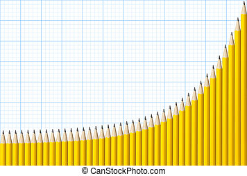 Exponential Graph of Pencils